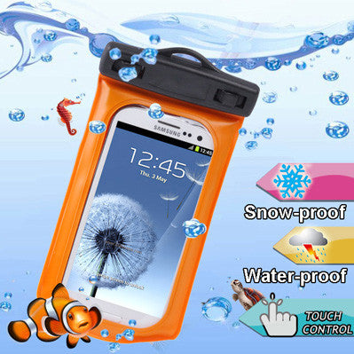 cases covers amp skins   wp 160c orange waterproof bag with