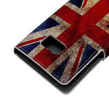 Leather Case with Holder & Card Slots for Samsung Galaxy S6 Edge - Retro UK Flag - Zasttra.com - 8