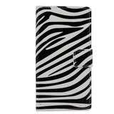 Leather Case with Holder & Card Slots for Samsung Galaxy S6 Edge - Zebra - Zasttra.com - 4