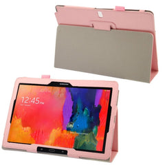 Crazy Horse Texture Flip Leather Case with Holder for Samsung Galaxy Note & Tab Pro 12.2 / P900  (Pink)