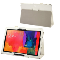 Crazy Horse Texture Flip Leather Case with Holder for Samsung Galaxy Note & Tab Pro 12.2 / P900  (White)