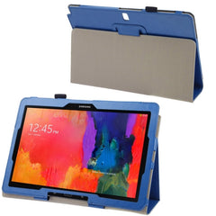 Crazy Horse Texture Flip Leather Case with Holder for Samsung Galaxy Note & Tab Pro 12.2 / P900 (Blue)