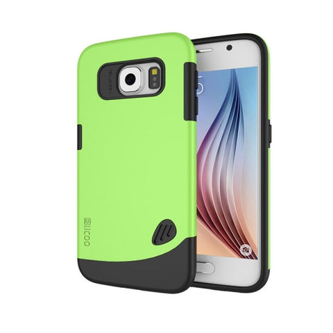Slicoo for Samsung Galaxy S6 / G920 TPU + PC Combination Case (Green)