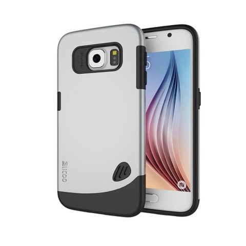 Slicoo for Samsung Galaxy S6 / G920 TPU + PC Combination Case (Silver)
