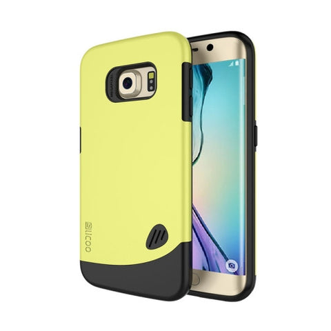 SLiCOO for Samsung Galaxy S6 Edge PC + TPU Combination Case (Yellow)