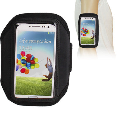 Sports Armband Case for Samsung Galaxy S IV / i9500 (Black)