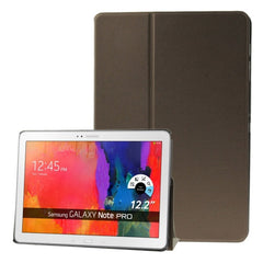 Frosted Texture Flip Leather Case with Holder for Samsung Galaxy Note & Tab Pro 12.2 / P900 / T900  (Brown)