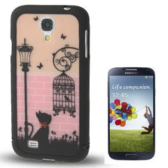 Birdcage Pattern Split Plastic Case for Samsung Galaxy S IV / i9500(Black)