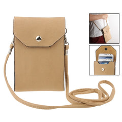 Universal Litchi Texture Leather Case Pocket Sleeve Bag with Lanyard for iPhone 6 Plus iPhone 6S Plus Samsung Galaxy S7 / S7 Edge / S6 edge Plus / A8 / Note 5 / Note 4 / S IV HTC ASUS Sony LG Nokia(Khaki)