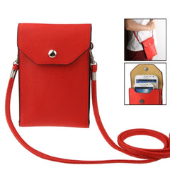 Universal Litchi Texture Leather Case Pocket Sleeve Bag with Lanyard for iPhone 6 Plus iPhone 6S Plus Samsung Galaxy S7 / S7 Edge / S6 edge Plus / A8 / Note 5 / Note 4 / S IV HTC ASUS Sony LG Nokia(Red)