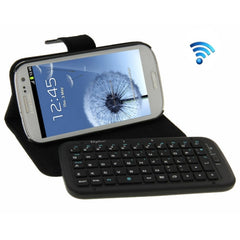 Bluetooth 3.0 Removable Keyboard Leather Case with Holder for Samsung Galaxy S III / i9300(Black)