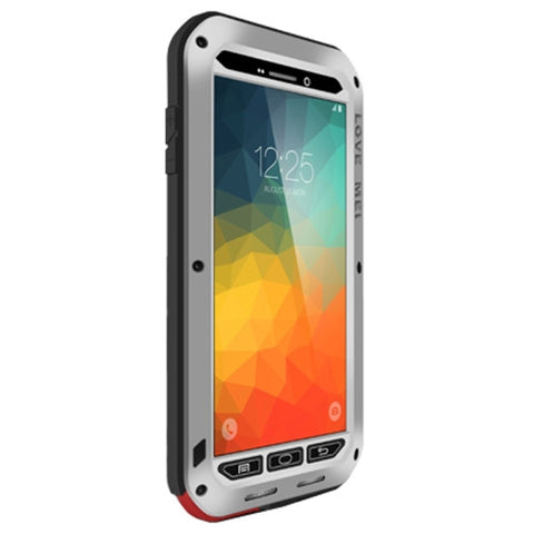 LOVE MEI Professional and Powerful Dustproof Shockproof Anti-slip Metal Protective Case for Samsung Galaxy Note 5 / N920(Silver)