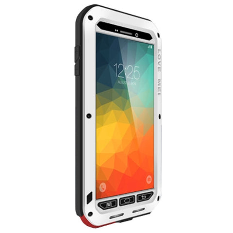 LOVE MEI Professional and Powerful Dustproof Shockproof Anti-slip Metal Protective Case for Samsung Galaxy Note 5 / N920(White)