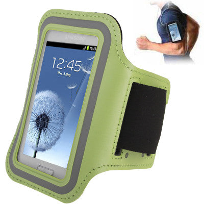 Sports Armband Case with Earphone Hole for Samsung Galaxy SIII mini/ i8190  Galaxy Trend Duos / S7562 (Green)
