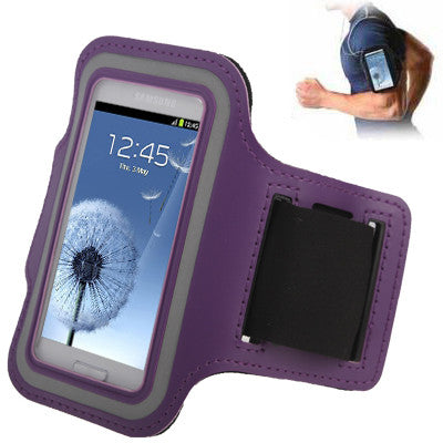 Sports Armband Case with Earphone Hole for Samsung Galaxy SIII mini/ i8190  Galaxy Trend Duos / S7562 (Purple)