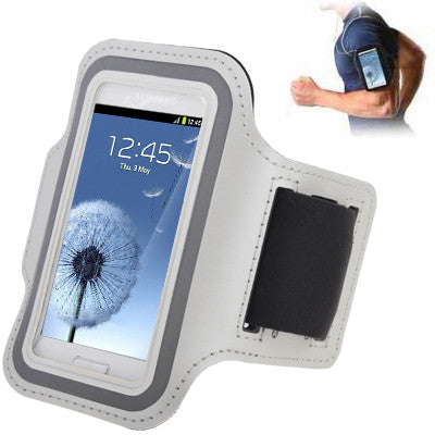 Sports Armband Case with Earphone Hole for Samsung Galaxy SIII mini/ i8190  Galaxy Trend Duos / S7562 (White)