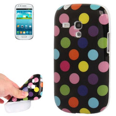 Black and Colorful  Dot Pattern TPU Case for Samsung Galaxy SIII mini / i8190(White)