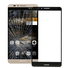 Front Screen Outer Glass Lens for Huawei Ascend Mate 7(Black)