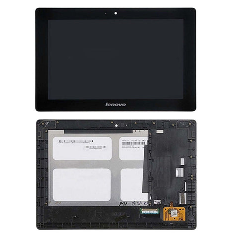 iPartsBuy LCD Screen + Touch Screen Digitizer Assembly with Frame for Lenovo Idea Tab S6000(Black)