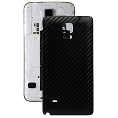 Carbon Fiber Texture Leather Paste Skin Back Cover Replacement for Samsung Galaxy Note 4(Black)