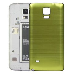 Black Edge Brushed Texture Back Cover Replacement for Samsung Galaxy Note 4(Green)