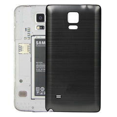 Black Edge Brushed Texture Back Cover Replacement for Samsung Galaxy Note 4(Grey)