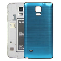 Black Edge Brushed Texture Back Cover Replacement for Samsung Galaxy Note 4(Blue)