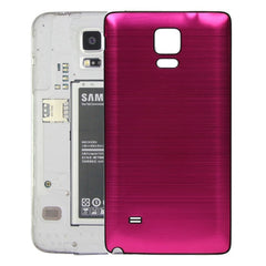 Black Edge Brushed Texture Back Cover Replacement for Samsung Galaxy Note 4(Magenta)