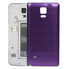Black Edge Brushed Texture Back Cover Replacement for Samsung Galaxy Note 4(Purple)