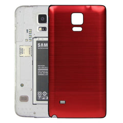 Black Edge Brushed Texture Back Cover Replacement for Samsung Galaxy Note 4(Red)
