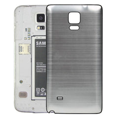 Black Edge Brushed Texture Back Cover Replacement for Samsung Galaxy Note 4(Silver)