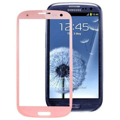 Original Front Screen Outer Glass Lens for Samsung Galaxy S3 / SIII / i9300 (Pink)
