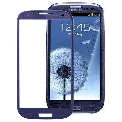 Original Front Screen Outer Glass Lens for Samsung Galaxy S3 / SIII / i9300 (Navy Blue)