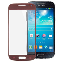 iPartsBuy for Samsung Galaxy S IV mini / i9190 Original Front Screen Outer Glass Lens (Scarlet Red)