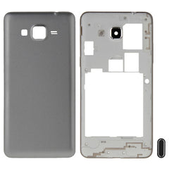 iPartsBuy for Samsung Galaxy Grand Prime / G530 (Dual SIM Card Version) Full Housing Cover (Middle Frame Bazel + Battery Back Cover) + Home Button(Grey)