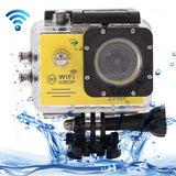 SJ7000 Full HD 1080P 2.0 inch LCD Screen Novatek 96655 WiFi Sports Camcorder Camera with Waterproof Case 170 Degrees HD Wide-angle Lens 30m Waterproof(Yellow)