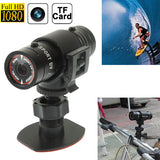 F9 Full HD 1080P Action Helmet Camera / Sports Camera / Bicycle Camera Support TF Card 120 Degree Wide Angle Lens