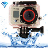 HD 1080P 0.8 inch LCD Screen WiFi Sports Camcorder with Waterproof Case 5.0MP 1/2.5 inch CMOS Sensor 170 Degrees Wide Angle Lens 60m Waterproof