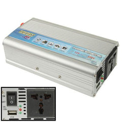 500W DC 12V to AC 220V Car Power Inverter with USB Port(Silver)
