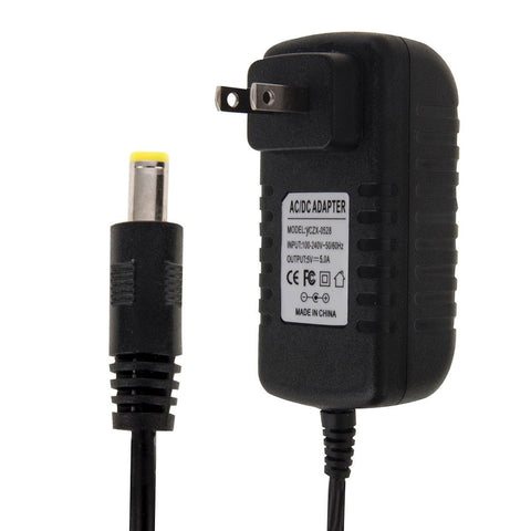 US Plug AC 100-240V to DC 5V 5A Power Adapter, Tips: 5.5 x 2.1mm, Cable Length: about 1.2m(Black)