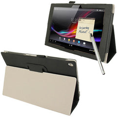 Crazy Horse Texture Leather Case with Holder / Sleep / Wake-up Function / Touch Pen for Sony Xperia Tablet Z / 10.1(Black)