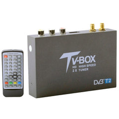DVB-T2 HD High Speed Double Antenna Mobile Digital Car TV Receiver Support H.264/MPEG2/MPEG4 /120KM/hour
