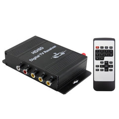 High Speed ISDB-T Mobile Digital Car TV Receiver Suit for Brazil / Peru / Chile etc. South America Market(Black)