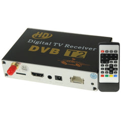 High Speed 90km/h H.264 / AVC MPEG4 Mobile Digital Car DVB-T2 TV Receiver Suit for Europe / Singapore / Thailand / Africa ect. Market(Black)