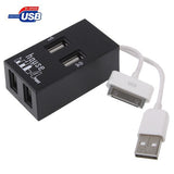 High Speed 4-Port USB 2.0 HUB Supports Windows 7 / XP / 2000 / ME / 98/ Mac OS / OSX (Black)