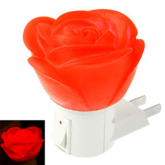 US Plug Rose Style Red Light 5 LED Small Night Light with Switch