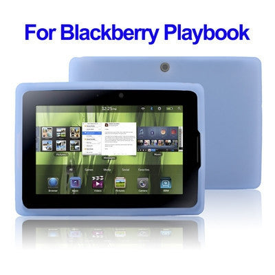 Silicone Case for Blackberry Playbook (Blue)