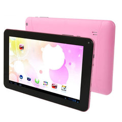 Android 4.0 Tablet PC 8GB 9.0 inch Screen AllWinner A33 Quad Core up to 1.2GHz RAM: 1GB WiFi(Pink)