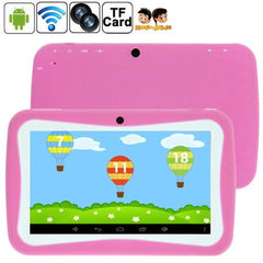 7.0 inch Kids Tablet PC 8GB Android 5.1 RK3126 Quad Core 1.3GHz(Pink) - 1 x English Manual