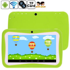 7.0 inch Kids Tablet PC 8GB Android 5.1 RK3126 Quad Core 1.3GHz(Green) - 1 x English Manual